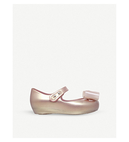 MINI MELISSA Ultragirl bow-detail Mary Jane shoes 6 months – 7 years (Nude