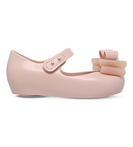 MINI MELISSA Ultragirl triple bow mary jane shoes 6 months - 5 years (Pale+pink
