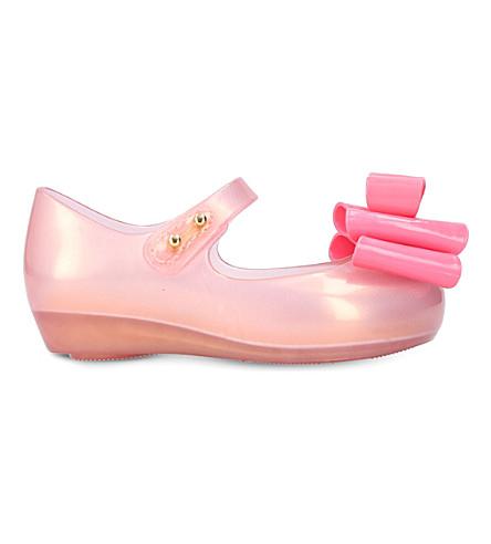MINI MELISSA Ultragirl triple bow flats 1-7 years (Pink+comb