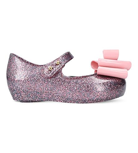 MINI MELISSA Ultragirl triple bow mary jane shoes 6 months - 7 years (Purple