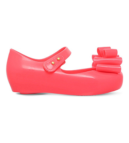 MINI MELISSA Ultragirl triple bow mary jane shoes 6 months - 7 years (Pink
