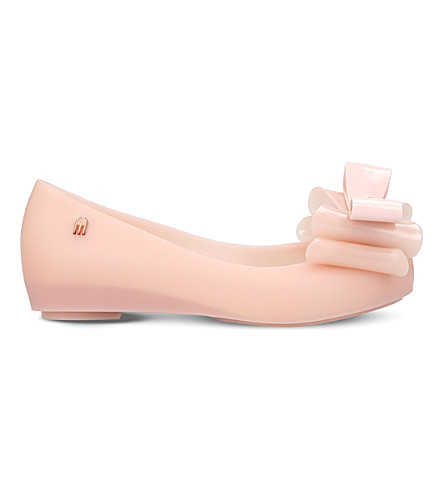 MINI MELISSA Ultragirl triple bow mary jane shoes 6-9 years (Pale+pink