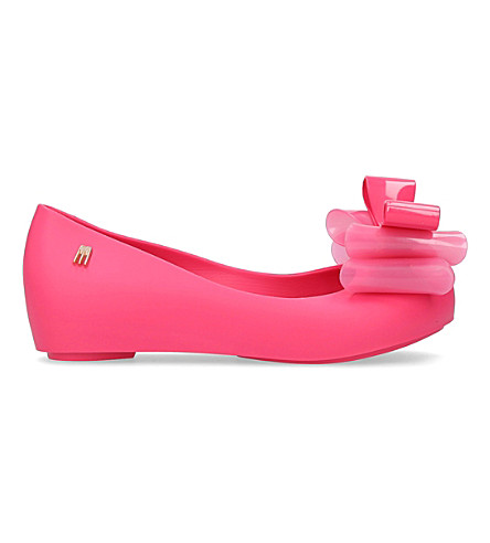 MINI MELISSA Ultragirl triple bow mary jane shoes 6-9 years (Pink