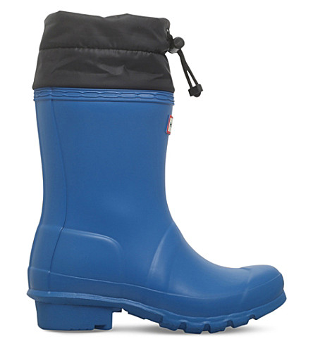 HUNTER Original Kids Quilted Cuff wellies 3-8 years (Blue+other
