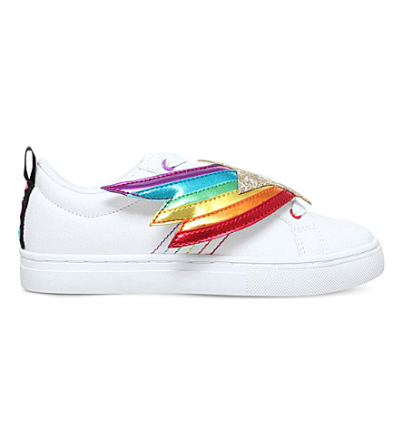 MINI MISS KG Superstar rainbow glitter trainers 7-11 years (White