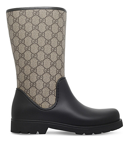 GUCCI Rainy GG supreme rain boots (Black