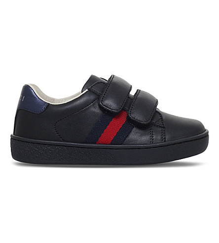 GUCCI New Ace VL leather trainers 1-5 years (Black