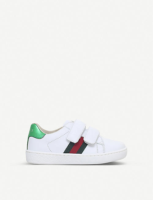 GUCCI New Ace VL leather trainers 4-8 years