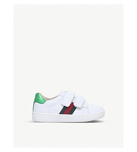 GUCCI New Ace VL leather trainers 4-8 years (White
