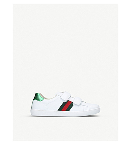 GUCCI New Ace VL leather sneakers 8-10 years (White