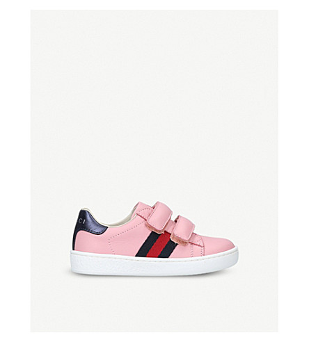 GUCCI New Ace VL leather trainers 2-5 years (Pink