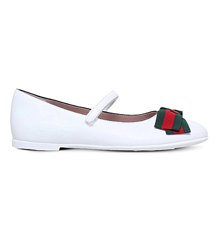 GUCCI Cindy leather mary jane shoes 5-8 years (White