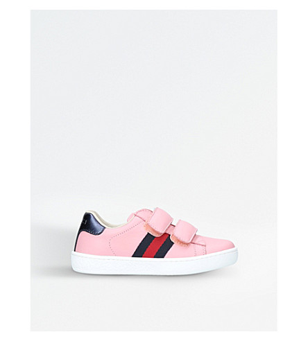 GUCCI New ace VL leather trainers 5-8 years (Pink