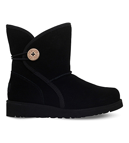 UGG Fabian suede boots 6-9 years (Black