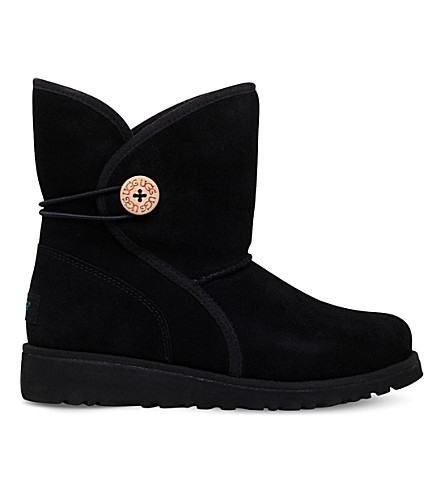 UGG Fabian suede boots 9-10 years (Black
