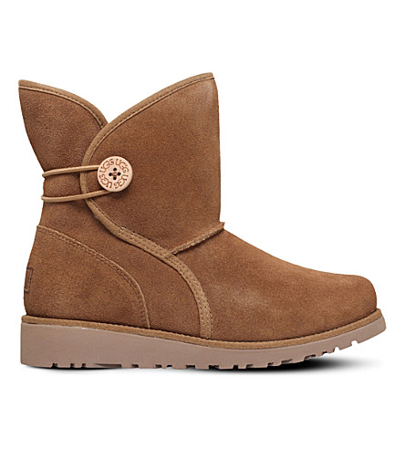 UGG Fabian suede boots 9-10 years (Brown