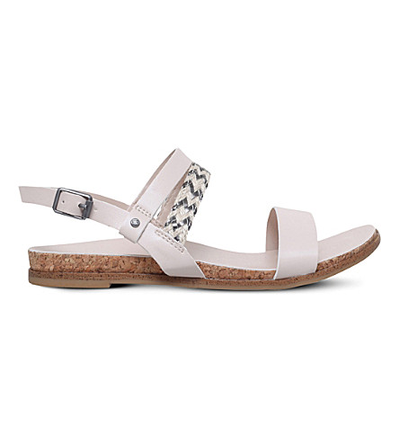 UGG Jayna faux-leather strappy sandals 7-9 years (Nude