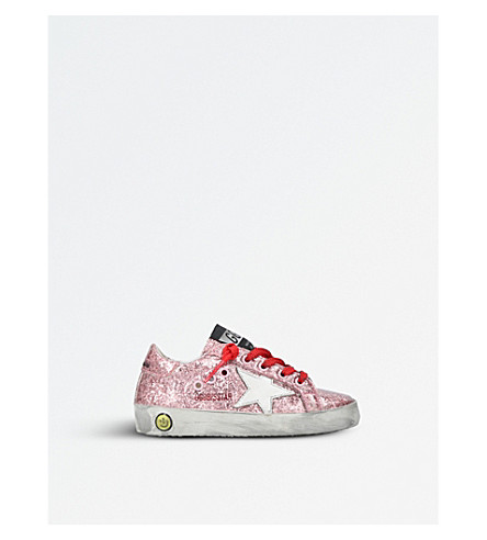 GOLDEN GOOSE Superstar glitter trainers 6 months – 5 years (Fushia cmb