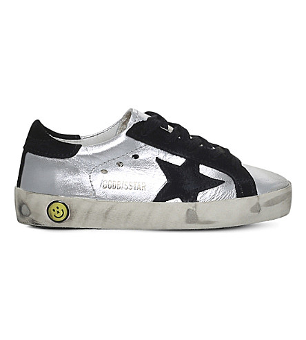 GOLDEN GOOSE Superstar leather sneakers 2-5 years (Silver