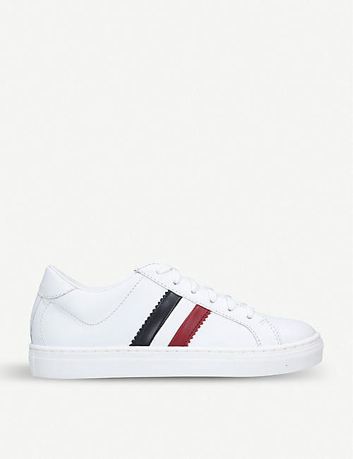 MONCLER Monaco leather trainers