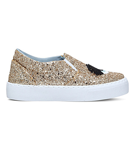 CHIARA FERRAGNI Flirting glitter skate shoes 6-9 years (Gold