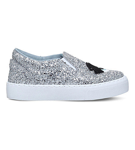 CHIARA FERRAGNI Flirting glitter skate shoes 6-9 years (Silver