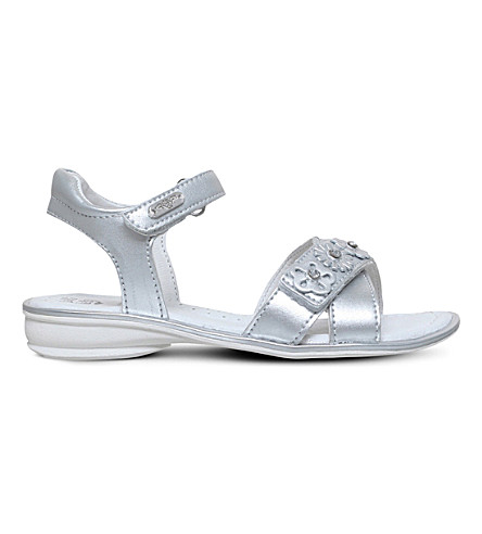 LELLI KELLY Grace metallic leather sandals (Silver