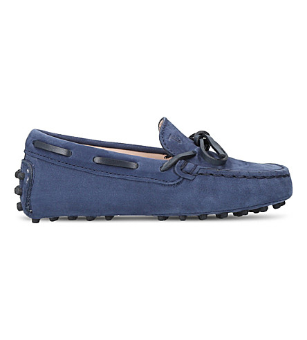 TODS Laccetto Gommini suede driving shoes 1-5 years (Blue