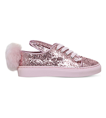 MINNA PARIKKA Tail Sneaks glitter low-top trainers 2-8 years (Pink