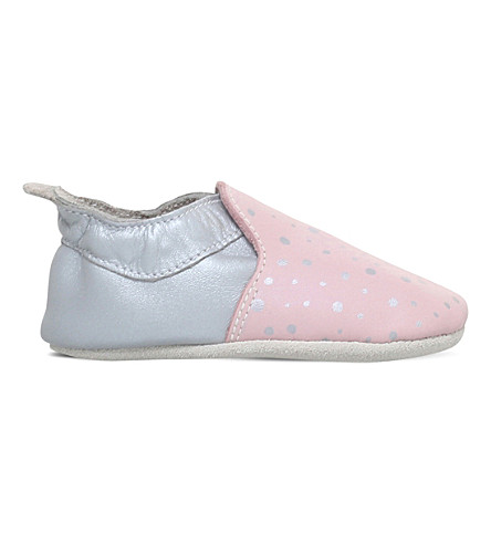 BOBUX Blossom and silver splash leather shoes 6 months-3 years (Pale+pink