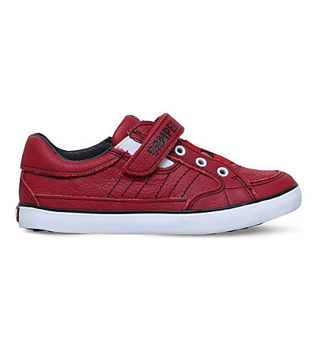 CAMPER Pelotas leather trainers 3-8 years (Red