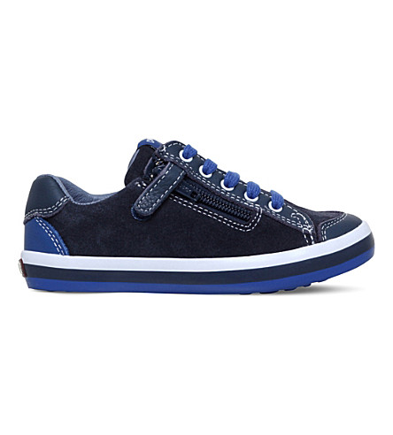 CAMPER Pelotas suede trainers 3-8 years (Blue/dark