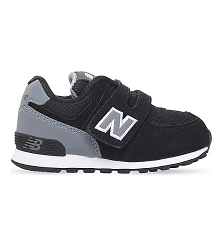 NEW BALANCE 574 suede trainers 2-5 years (Blk/grey
