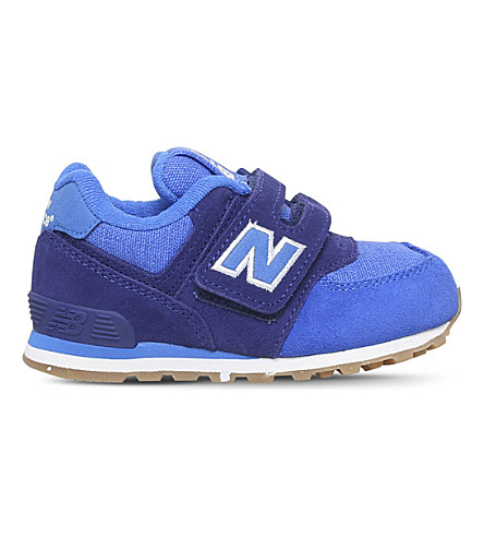 NEW BALANCE 574 suede and mesh trainers 6-9 years (Blue
