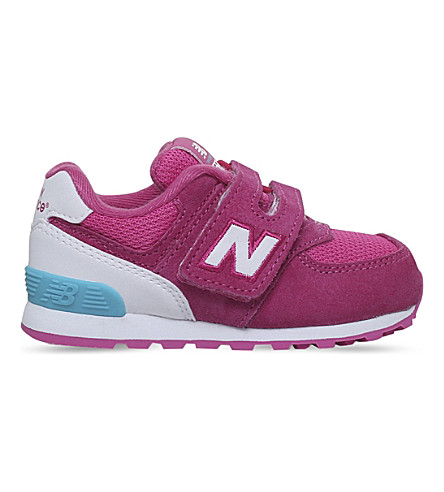 NEW BALANCE 574 suede trainers 2-5 years (Pink