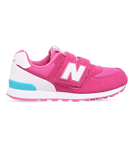 NEW BALANCE 574 suede trainers 6-11 years (Pink