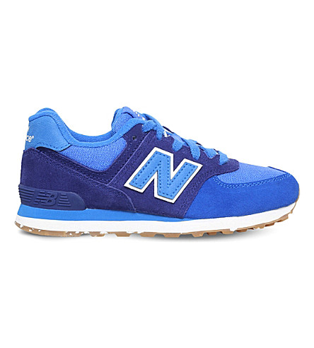NEW BALANCE 574 suede and mesh sneakers 9-10 years (Blue