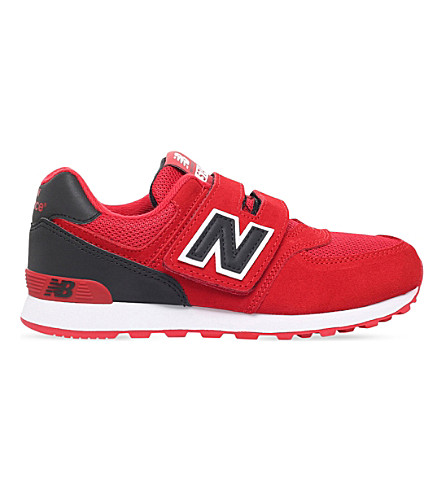 NEW BALANCE 574 suede trainers 6-11 years (Red