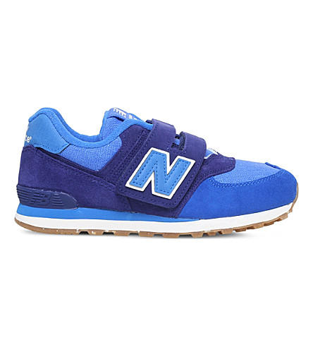 NEW BALANCE 574 suede and mesh sneakers 6-9 years (Blue