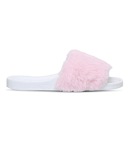 MINI MISS KG Mini Koat faux-fur sliders 4-7 years (Pink