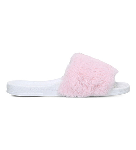 MINI MISS KG Mini Koat faux-fur sliders 7-9 years (Pink