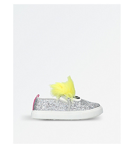 MINI MISS KG Rockstar embellished slip-on trainers 3-7 years (Silver