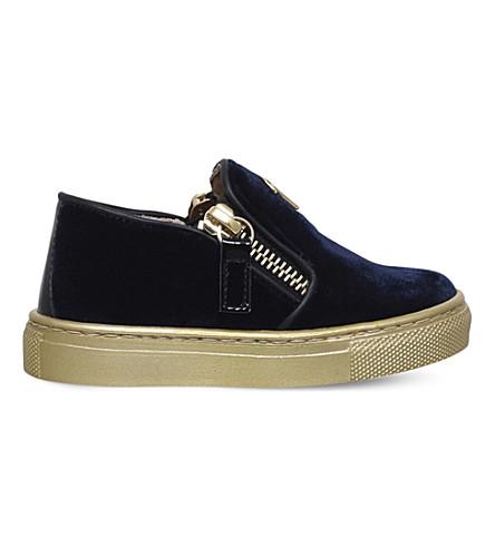 GIUSEPPE ZANOTTI Gary velvet skate shoes 1-3 years (Navy