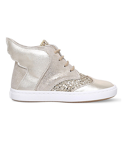 BABYWALKER Teah high-top leather trainers 6 months - 5 years (Gold