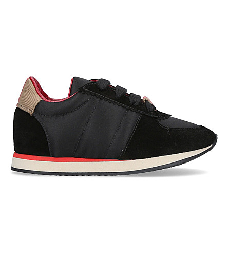 BURBERRY Mini Track suede trainers 2-5 years (Black