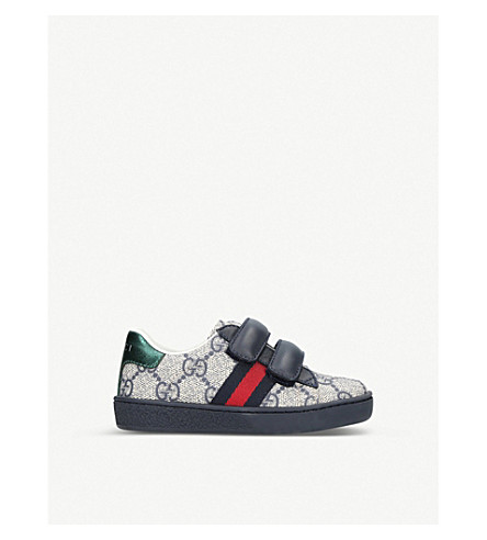 GUCCI New Ace VL trainers 1-4 years (Navy