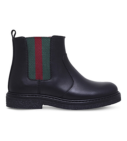 GUCCI Joshua leather Chelsea boots 2-5 years (Black