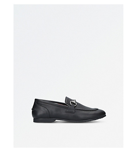 GUCCI Jordaan leather loafers 4-8 years (Black