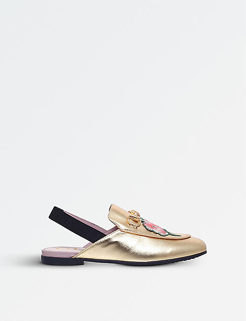 chanel kids shoes. gucci princetown tiger-motif metallic leather slingback loafers chanel kids shoes