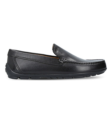 GEOX Fast leather loafers 4 – 8 years (Black